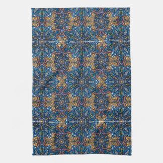 Motif floral ethnique abstrait coloré De de Linge De Cuisine