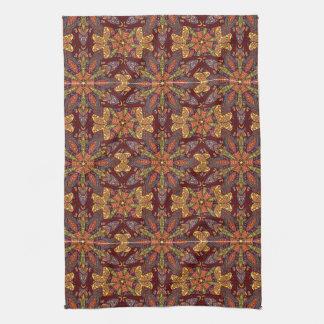 Motif floral ethnique abstrait coloré De de Serviettes Éponge