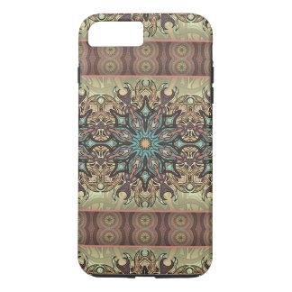 Motif floral ethnique abstrait coloré de mandala coque iPhone 7 plus