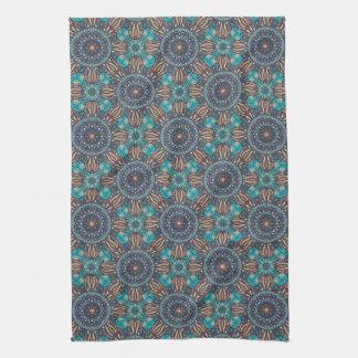 Motif floral ethnique abstrait coloré de mandala linge de cuisine