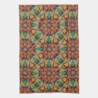 Motif floral ethnique abstrait coloré de mandala linges de cuisine