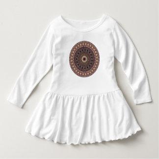 Motif floral ethnique abstrait coloré de mandala robe manches longues