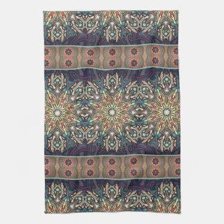 Motif floral ethnique abstrait coloré de mandala serviettes éponge