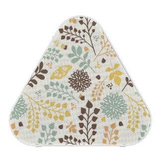 Motif floral : feuille, fleurs et papillon haut-parleur bluetooth