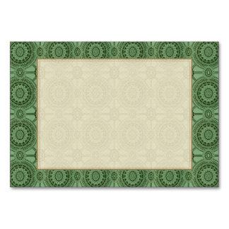 Motif floral géométrique vintage de vert sauge