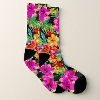 Motif floral hawaïen brillant