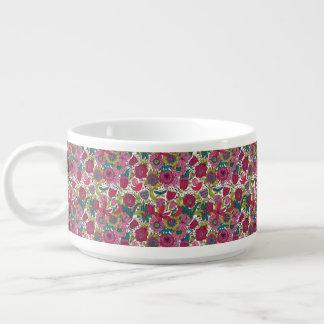 Motif floral lumineux bol à chili