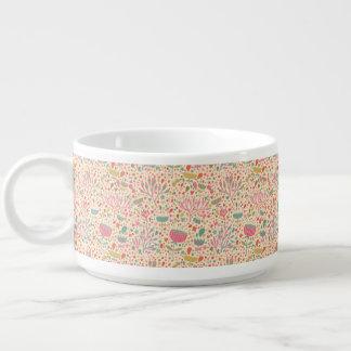 Motif floral lumineux bol pour chili