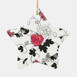 Motif floral ornement étoile en céramique