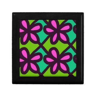 motif floral rose boîte à souvenirs
