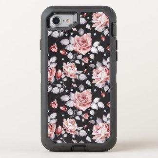 Motif floral rose vintage coque otterbox defender pour iPhone 7