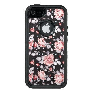 Motif floral rose vintage coque OtterBox iPhone 5, 5s et SE