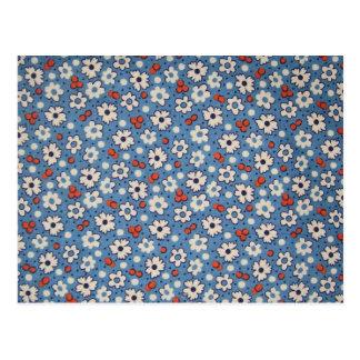 Motif floral rouge et blanc vintage cartes postales