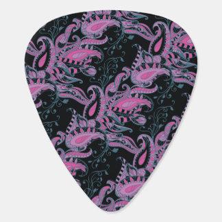 Motif floral sophistiqué lumineux de Paisley Onglet De Guitare