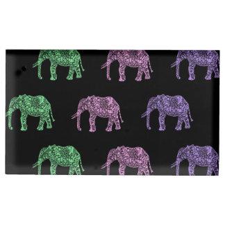motif floral tribal coloré d'éléphant de boho porte-photos