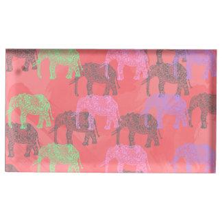 motif floral tribal coloré d'éléphant porte-photos