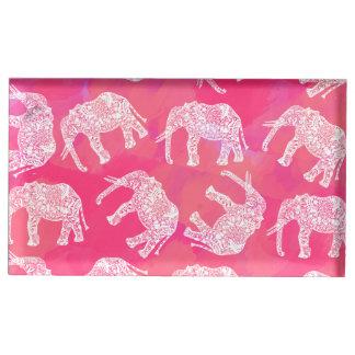 motif floral tribal coloré rose girly d'éléphant porte-photos