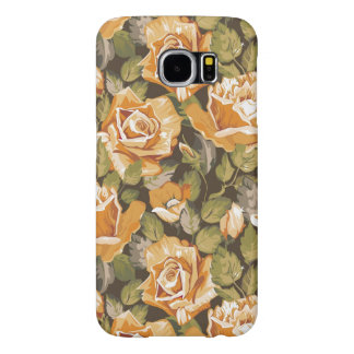 Motif floral vintage des roses jaunes