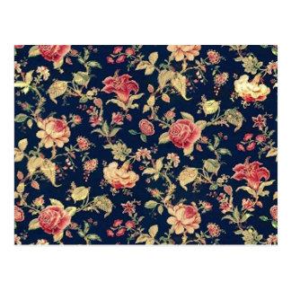 motif floral vintage cartes postales. Black Bedroom Furniture Sets. Home Design Ideas