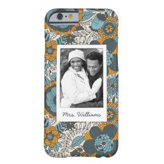 Motif floral vintage fait sur commande de photo et coque iPhone 6 barely there