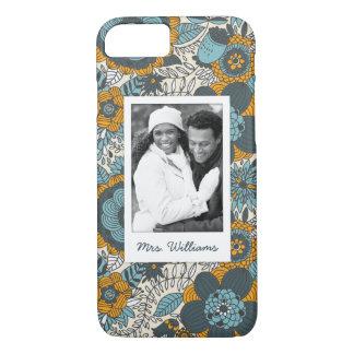 Motif floral vintage fait sur commande de photo et coque iPhone 8/7