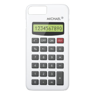 Motif frais de calculatrice d'amusement avec le coque iPhone 7 plus