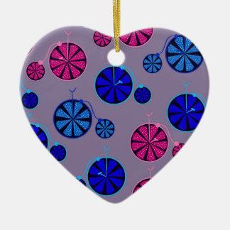 Motif fruité de tour ornement cœur en céramique