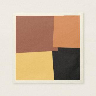 Motif géométrique #6 de rétro couleur abstraite serviette en papier