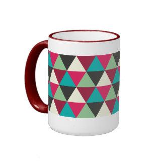 Motif géométrique à la mode ethnique de triangles mug ringer