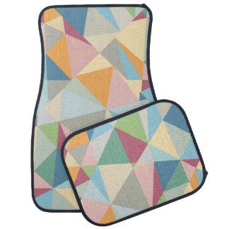 Motif géométrique abstrait moderne coloré en tapis de voiture