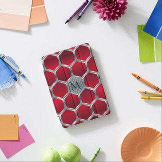 Motif géométrique argenté rouge et métallique GR2 Protection iPad Mini