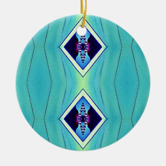 Motif géométrique artistique en pastel vibrant ornement rond en céramique