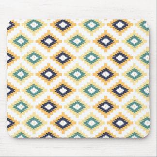 Motif géométrique aztèque tribal coloré 2a tapis de souris