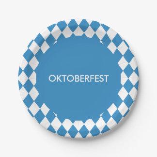 Motif géométrique bavarois fait sur commande pour assiettes en papier