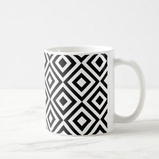 Motif géométrique blanc noir abstrait moderne mug