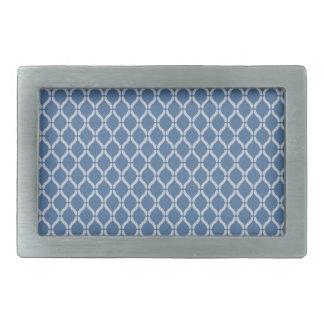 Motif géométrique bleu boucles de ceinture rectangulaires
