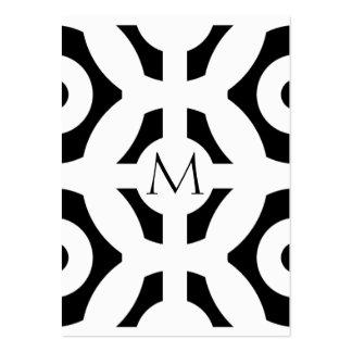 Motif géométrique carte de visite grand format