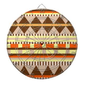 Motif géométrique cible de fléchettes
