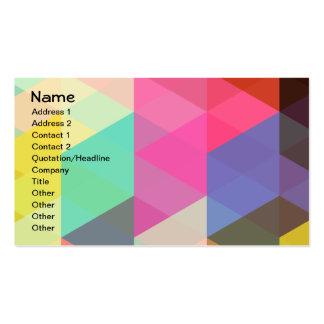Motif géométrique coloré abstrait frais de vecteur carte de visite