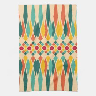 Motif géométrique coloré avec les polygones linges de cuisine