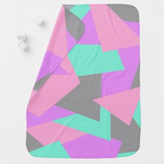 motif géométrique coloré de bloc élégant de couverture de bébé