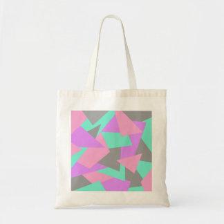 motif géométrique coloré de bloc élégant de sacs en toile