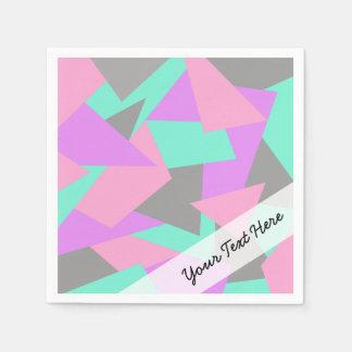 motif géométrique coloré de bloc élégant de serviette jetable