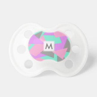 motif géométrique coloré de bloc élégant de tétine pour bébé