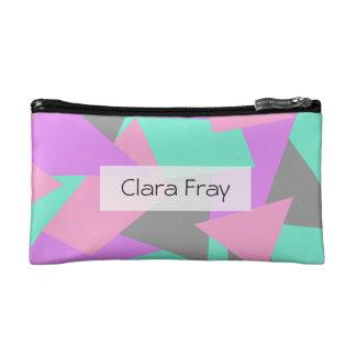 motif géométrique coloré de bloc élégant de trousse make-up