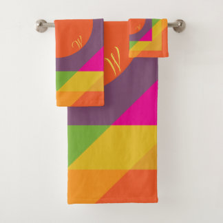 Motif géométrique coloré lumineux décoré d'un