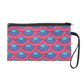 Motif géométrique coloré sac à main avec dragonne