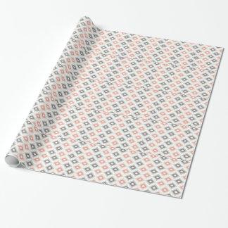Motif géométrique dans le style aztèque papier cadeau