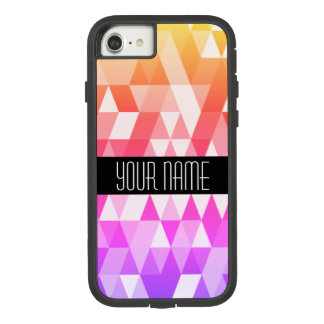 Motif géométrique d'arc-en-ciel de triangle coque Case-Mate tough extreme iPhone 7