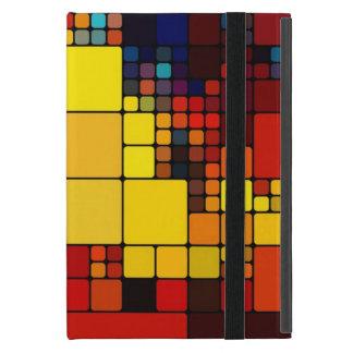 Motif géométrique d'arc-en-ciel vibrant abstrait coques iPad mini
